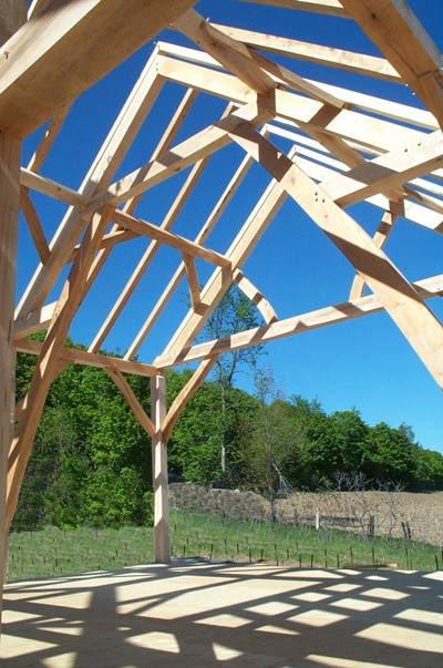 <b>Sainte-Marthe, Quebec</b><br>Great room timber frame in maple