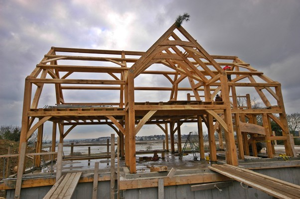<b>Brittany, France</b><br>Timber frame made from white oak on the coast